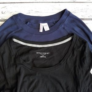 Set of 2 Long Sleeve Maternity Tops Size M